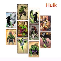 Pictures marvel online shopping - 20 cm Marvel Hero Hulk Metal Tin Signs Vintage Posters Old Wall Metal Plaque Club Wall Home art metal Painting Wall Decor Art Pictures