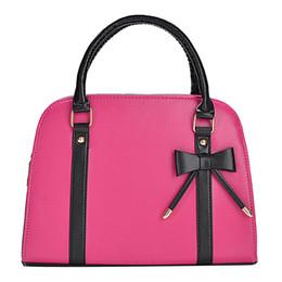 $enCountryForm.capitalKeyWord Australia - Fashion Office Ladies Handbags Leisure Bowknot PU Leather Shoulder Bags For Women Rose Black Color Handbag Female Purse