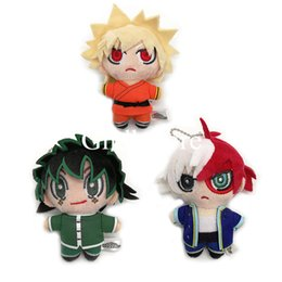 Wholesale heroes video games online – design Top New Styles quot CM My Hero Academia Bakugou Katsuki Todoroki Shoto Midoriya Izuku Plush Doll Anime Keychains Pendants Stuffed Toys