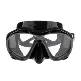 Swim Glasses Anti Fog Australia - Professional Underwater Silicone Anti-fog Scuba Diving Mask Swimming Goggles Tempered Glass Men Women Snorkel Diving Equipment