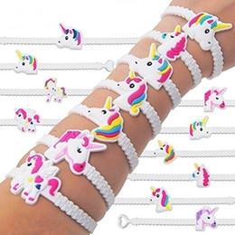$enCountryForm.capitalKeyWord Australia - Pawliss Unicorn Dinosaur PVC Bracelets Wristband Birthday Party Supplies for Kids Girls Emoticon Toys Prizes Gifts Rubber Band Jewelry