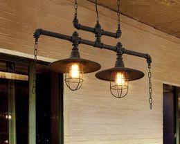 $enCountryForm.capitalKeyWord Australia - creative water pipes chandelier lamps personalized American European industrial vintage chandeliers cloth store cafe club bar LLFA