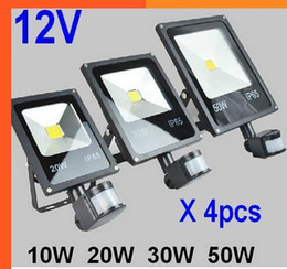 $enCountryForm.capitalKeyWord Australia - (4pcs lot) 12V 10W 20W 30W 50W PIR LED Floodlight With Motion Detective Sensor Outdoor LED Flood Light Lamp Landscape Light