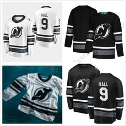 Cheap 2019 All Star Jerseys Mens 9 Taylor Hall New Jersey Devils Black White  Blank Top Quality Men 2019 All-Star Patch Hockey Jersey 749c62011
