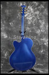 Metal String Guitars Australia - Starshine Hollow Body Electric Guitar YL-JZ80 Jazz Guitar Grover Tuner P90 Pickups Metal Blue Color