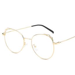 $enCountryForm.capitalKeyWord UK - Top quality ladies cat eye flat mirror retro square glasses frame ladies men cat eye otoscope men's metal outdoor glasses to send boxes
