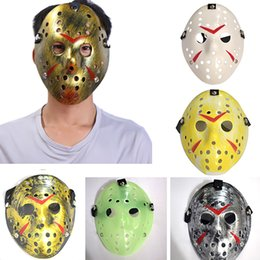 hockey masks Australia - The 13th Hockey Mask Jasons Halloween Costume Mask Scary Halloween Costume Cosplay Xmas Festival Party Mask XD22094