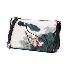 1795b00caec9 Не пульсация оригинальная печать lotus art boutique 2019 новый onen сумка  женщины крест сумка леди путешествия