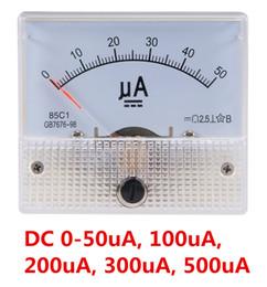 Dc Amp Meter Gauge Australia - Pointer DC Micro Ammeter DC 0-100uA 50uA 200uA 500uA Analog Panel AMP Current Meter Ammeter Gauge Amperemeter 85C1