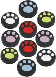 cats controller Australia - 10 xSilicone Thumb Stick Grips Caps Cute Cat Paw for Nintend Switch NS Joy-Con Controller Joystick Accessories