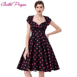 23fa8584d60 Women Dresses Summer Robe Sexy Vestidos Big Size Floral Print Retro 50s 60s Vintage  Dress Hepburn Pinup Cocktail Party Dresses  491053