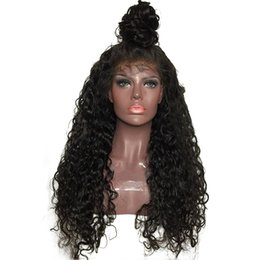 $enCountryForm.capitalKeyWord UK - Lace Front Human Hair Wig Deep Curly Pre Plucked Hairline Brazilian Virgin Hair Curly 150% Density Bleached Knots