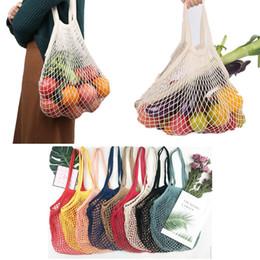 Folding rolling shopping bag online shopping - Hand Totes Home Storage Bag Cotton Mesh Grocery Shopping Produce Bags Vegetable Fruit Fresh Bag Pouch Drawstring Organizer Bag XY