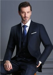 robes à double fente achat en gros de-news_sitemap_homeVapel Groom Tuxedos Bouton Hommes Costumes Business Hommes Casual Costume Robe Double Slit Slim Robe de mariée veste pantalon gilet HY6205