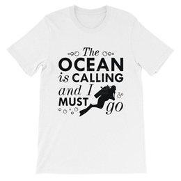 $enCountryForm.capitalKeyWord Australia - The Ocean Is Calling Scuba Diver Unisex T Shirt, White Find A Shirt ... Style Natural Cotton O-neck Tee shirt