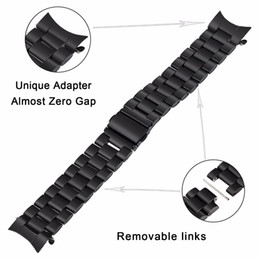 $enCountryForm.capitalKeyWord Australia - 22mm Stainless Steel Watch Band Quick Release Strap for Samsung Gear S3 Classic Frontier Wrist Belt Link Bracelet Black Silver
