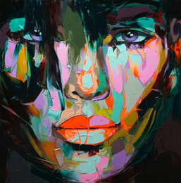 $enCountryForm.capitalKeyWord Australia - Hand painted Palette knife painting portrait Palette knife Francoise Nielly Face Abstract Oil painting Impasto figure on canvas Decor FN75