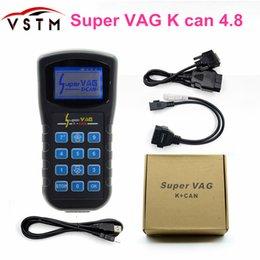 2018 Super VAG K + PODE V4.8 Super VAG K CAN 4.8 Ferramenta de Correção de Odômetro Airbag Reset ferramenta Programador chave Para AUDI VW Skoda vag k venda por atacado
