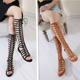 $enCountryForm.capitalKeyWord Australia - 2019 Bohemian Roman boots cross strap sandals women's flat open toe beach shoes laced boots