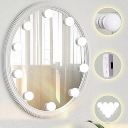 Chargers bulbs online shopping - LED Lights for Mirror with Dimmer and USB Phone Charger LED Makeup Mirror Lights Kit Hollywood Style Lighting Fixture