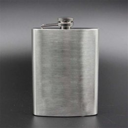 Hip Flask Cups Set UK - 7oz Hip Flask Set Stainless Steel Hip Flask With Funnel Drinking Cup Portable Hip Flask for Whiskey Liquor Wine KC1013-2