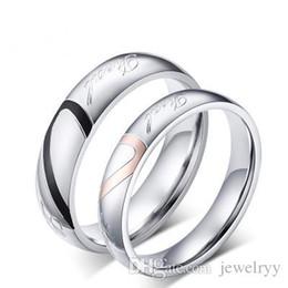 Steel Anniversary Gifts For Women UK - Romantic Love Heart Titanium Ring Man Women Titanium Steel  sc 1 st  DHgate.com & Shop Steel Anniversary Gifts For Women UK | Steel Anniversary Gifts ...