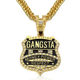 $enCountryForm.capitalKeyWord Australia - 90cm Chain Gangsta Pendant Necklace Men Jewelry Gold Silver Color Music Rock Hip Hop Rappers Necklaces Mens Jewellery Collier C19041101