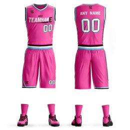 Personalizar camisetas de baloncesto para niños Adultos College Equipo de baloncesto Jerseys jerseys deportivos conjuntos de baloncesto ropa envío gratis barato en venta