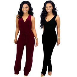 woman elegant jumpsuits UK - women sleeveless jumpsuit sexy romper elegant fashion skinny jumpsuit pullover comfortable clubwear women clothing hot klw1110