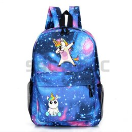 Wholesale Cute Cartoon Dabbing Unicorn Backpack Boys Girls Galaxy Backpack Schoolbag Cool Book Bag Travel Shoulder Bag
