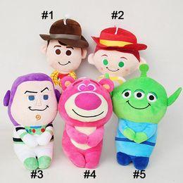 Strawberry pluSh toyS online shopping - Anime Figure Toy Gift Boy Anime Plush Toys Kids General Mobilization Cowboy Sheriff Strawberry Bear Plush Doll cm MMA2315