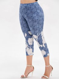 high space leggings NZ - Wipalo Plus Size High Waist Space Dye Capri Leggings Summer Women Pants Skinny Leggings Casual Ladies Trousers 2019 Leggins Y19072901