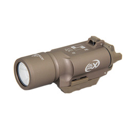 Tactical SF X300 Gun Light Hunting Rifle Pistol LED White Light Aluminium Alloy Construction with Markings on Sale