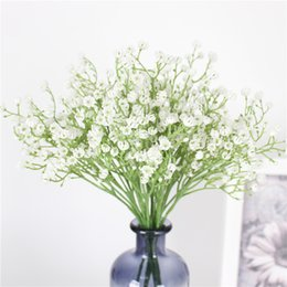 plastic scenery UK - 1PCS 58cm Rustic artificial flower interspersion mantianxing decor for home table wedding flower plastic Gypsophila babysbreath