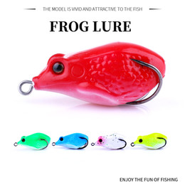 soft lure tackle NZ - HENGJIA Soft Frog Fishing Lure 5 colors 1pc Soft Silicone With 2 Chicken Hook Artificial Pesca Fishing Tackle