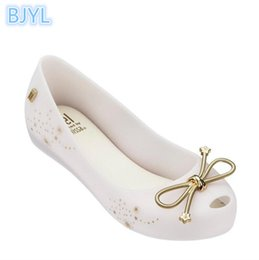 Discount bow fish shoes - BJYL 2018 new jelly shoes round head bow single shoes fragrant women's sandals increased shallow mouth fish mouth