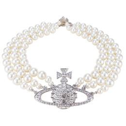 $enCountryForm.capitalKeyWord Australia - 2019 European and American stars Full diamond three-layer pearl Luxury Wedding Banquet necklace Necklace Spot