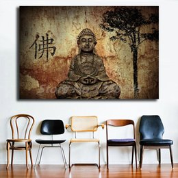 $enCountryForm.capitalKeyWord UK - Buddhism Statue Portrait Paintings on Canvas Modern Poster Art Decorative Wall Pictures For Living Room Bedroom Home Decoration