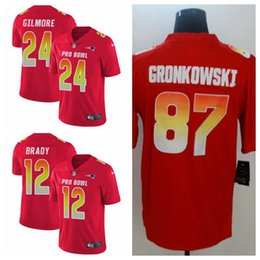 New England Women s Men s youth Tom Brady Stephon Gilmore Limited football  Jersey Patriots Red AFC 2019 Pro Bowl cb68c15a2