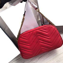 $enCountryForm.capitalKeyWord Australia - 2019 fashion luxury designer woman bags new plain stripes chains camera lady crossbody shoulder bags cowhide genuine leather free shipping