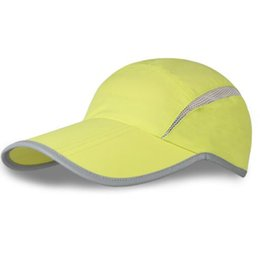 flat hats for women UK - Outdoor hats summer sun shading baseball caps with a triple fold quick dry matching sun block running caps for both men and women