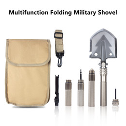 portable camping shovel UK - Multifunction Folding Military Shovel With Portable Nylon Bag Strong Detachable Tactical Outdoor Tool For Camping Hiking