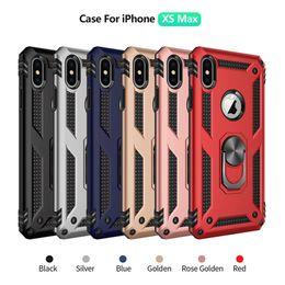 Опт Для iPhone 6S 7 8 Plus XR XS Max Armor Case Магнитное кольцо для пальца Крышка подставки