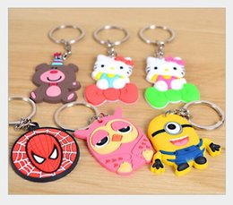 Boys Spiderman Gifts NZ - Mix Superhero Spiderman PVC Keychain Action Figure Pendant Keyring Collection Gift