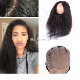 virgin indian lace frontals NZ - Silk Base 360 Lace Frontal Closure Indian Kinky Straight Virgin Hair Coarse Yaki Pre Plucked Silk Top 360 Lace Band Frontals