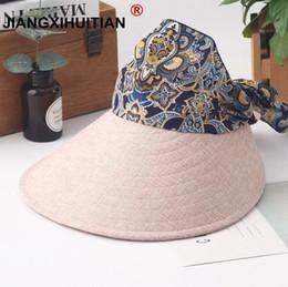 $enCountryForm.capitalKeyWord Australia - Big eaves uv sun hat summer sun hats for women straw hat girls beach organza cap visors caps multipurpose foldable floppy hat