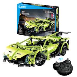 EnlightEn building blocks online shopping - 453pcs Technic Series Rc Car Model Building Blocks Remote Control Sportscar Racer Cars Enlighten Bricks Toy For Kids Fit Legoing Y190606