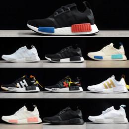 Discount nmd r1 triple black - NMD Triple Black Running Shoes for mens Runner Primeknit OG R1 PK Japan White Women designer sneakers Beige OREO Sports