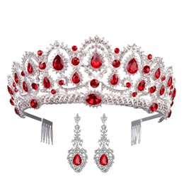 $enCountryForm.capitalKeyWord UK - MVEXO Gorgeous Silver Crystal Tiaras with Earrings Rhinestones Pageant Crowns with Comb Baroque Bridal Wedding Hair Accessories KMVEXO Go...