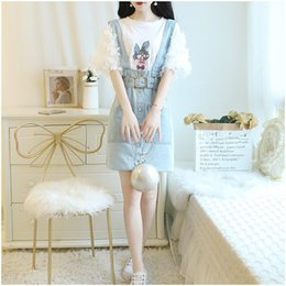 Petal Suits Australia - 2019 Summer New 2 Piece Set Women T-Shirt and Jean Strap Mini Skirt Casual Suits Petal Sleeve Solid Outfits
